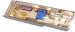 Deluxe каюта с балконом (5A)