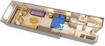 Deluxe каюта с балконом Navigator's (7A)