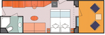 Каюта с балконом Samsara (SB)