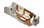Каюта с балконом уровня Aqua Class (A2)
