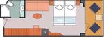 Гарантированная каюта с балконом (Basic)