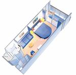 Каюта с балконом: категория 2B