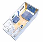 Внутренняя каюта с виртуальным балконом: категория 4U