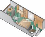 Каюта с балконом уровня Aqua Class (A1)