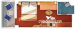 Каюта с балконом (8A)