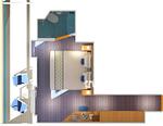 Каюта с балконом Premium: 9B