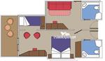 Двойная каюта с балконом Superfamily категории FLA