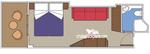 Каюта с балконом Bella категории B1